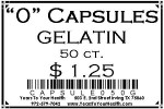 '0' Gelatin Capsules - 50 count per package - Product Image
