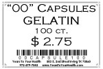 '00' Gelatin Capsules - 100 count per package - Product Image