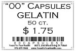 '00' Gelatin Capsules - 50 count per package - Product Image