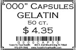 '000' Gelatin Capsules - 50 count per package - Product Image