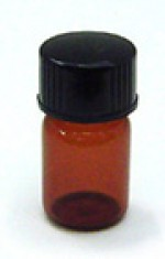 1/12 oz. amber glass bottle with cap - Product Image