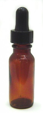 1/2 oz. amber glass bottle with dropper - Product Image