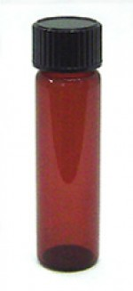1/4 oz. amber glass bottle with cap - Product Image