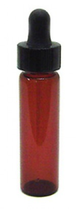 1/4 oz. amber glass bottle with dropper - Product Image