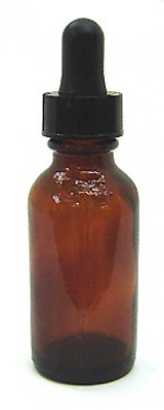 1 oz. amber glass bottle with dropper - Product Image