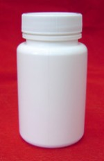 100 cc  plastic bottle with lid - Product Image