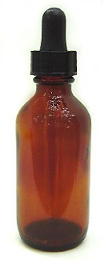 2 oz. amber glass bottle with dropper - Product Image