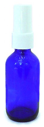 2 oz. blue glass bottle with spray-top - Product Image