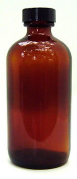 4 oz. amber glass bottle with cap - Product Image