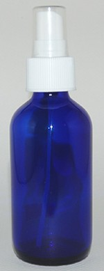4 oz. blue glass bottle with spray-top - Product Image
