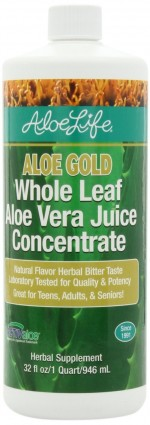 Aloe Life - Aloe Gold, Whole Leaf Aloe Vera Juice Concentrate - 32 oz. - Product Image
