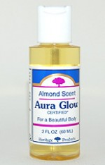Aura Glow Massage Oil, Almond - 2 oz. - Product Image
