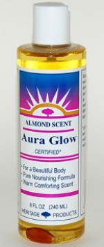 Aura Glow Massage Oil, Almond - 8 oz. - Product Image