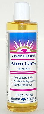 Aura Glow Massage Oil, Coconut Musk - 8 oz. - Product Image