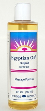 Aura Glow Massage Oil, Egyptian Oil Original - 8 oz. - Product Image