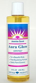 Aura Glow Massage Oil, Jasmine - 8 oz. - Product Image
