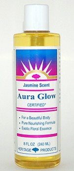 Aura Glow Massage Oil, Jasmine - 8 oz. - Product Image