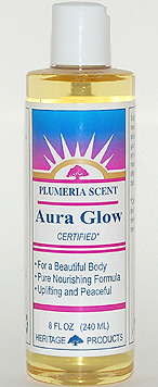 Aura Glow Massage Oil, Plumeria - 8 oz. - Product Image