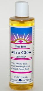 Aura Glow Massage Oil, Rose - 8 oz. - Product Image