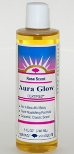 Aura Glow Massage Oil, Rose - 8 oz. - Product Image