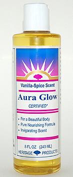 Aura Glow Massage Oil, Vanilla Spice - 8 oz. - Product Image