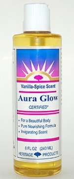 Aura Glow Massage Oil, Vanilla Spice - 8 oz. - Product Image