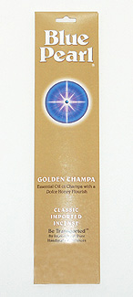 Blue Pearl Premium Golden Champa Incense - .35 oz. - Product Image