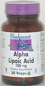 Bluebonnet Alpha Lipoic Acid 100 mg. - 30 vcaps - Product Image