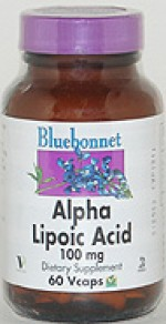 Bluebonnet Alpha Lipoic Acid 100 mg. - 60 vcaps - Product Image