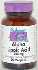 Bluebonnet Alpha Lipoic Acid 200 mg. - 30 vcaps - Product Image