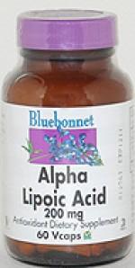 Bluebonnet Alpha Lipoic Acid 200 mg. - 60 vcaps - Product Image
