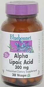 Bluebonnet Alpha Lipoic Acid 300 mg. - 30 vcaps - Product Image