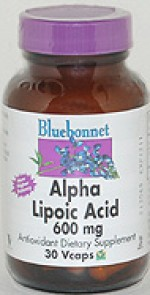 Bluebonnet Alpha Lipoic Acid 600 mg. - 30 vcaps - Product Image