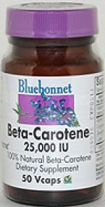 Bluebonnet Beta-Carotene 25,000 I.U. - 50 vcaps - Product Image