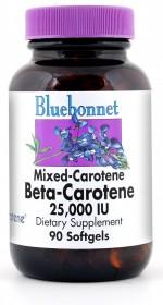 Bluebonnet Beta-Carotene 25,000 I.U. - 90 vcaps - Product Image