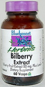 Bluebonnet Bilberry Extract 80 mg. - 60 vcaps - Product Image