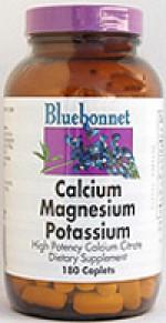 Bluebonnet Calcium Citrate Magnesium Potassium Caplets - 180 caplets - Product Image