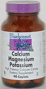 Bluebonnet Calcium Citrate Magnesium Potassium Caplets - 90 caplets - Product Image