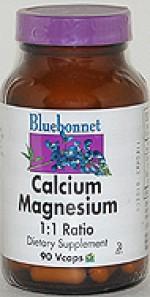 Bluebonnet Calcium Magnesium 1:1 Ratio - 90 vcaps - Product Image