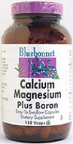 Bluebonnet Calcium Magnesium Plus Boron - 180 vcaps - Product Image