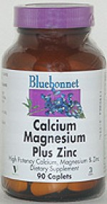 Bluebonnet Calcium Magnesium Zinc Caplets - 90 caplets - Product Image