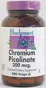 Bluebonnet Chromium Picolinate 200 mcg. - 200 vcaps - Product Image