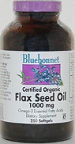 Bluebonnet Flax Seed Oil 1000 mg. Softgels - 250 softgels - Product Image