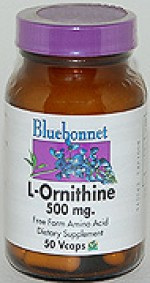 Bluebonnet L-Ornithine 500 mg. - 50 vcaps - Product Image