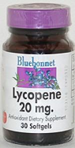 Bluebonnet Lycopene 20 mg. Softgels - 30 softgels - Product Image