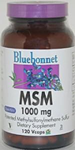 Bluebonnet MSM 1000 mg. - 120 vcaps - Product Image