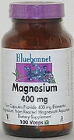 Bluebonnet Magnesium 400 mg. - 100 vcaps - Product Image