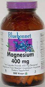 Bluebonnet Magnesium 400 mg. - 200 vcaps - Product Image