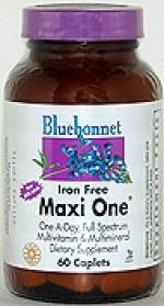 Bluebonnet Maxi One (Iron Free) Caplets - 60 caplets - Product Image
