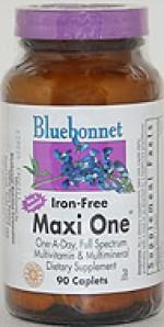 Bluebonnet Maxi One (Iron Free) Caplets - 90 caplets - Product Image